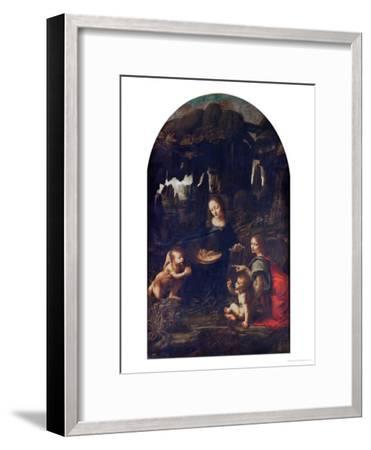 Madonna of the Rocks, circa 1478-Leonardo da Vinci-Framed Giclee Print