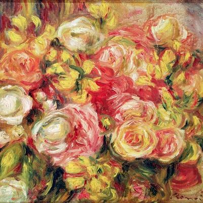Roses, 1915-Pierre-Auguste Renoir-Stretched Canvas Print
