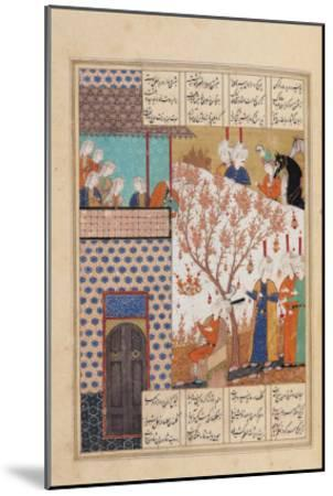 Khosro Before Shirins Palace, Illustration to Khosro and Shirin, 1176, by Elias Nezami (1140-1209)--Mounted Giclee Print