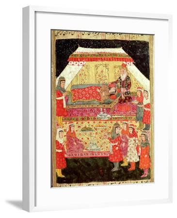 "Harem Scene, from the ""Shahnama"" (Book of Kings), by Abu""L-Qasim Manur Firdawsi (c. 934-c. 1020)--Framed Giclee Print"