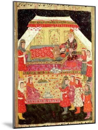 "Harem Scene, from the ""Shahnama"" (Book of Kings), by Abu""L-Qasim Manur Firdawsi (c. 934-c. 1020)--Mounted Giclee Print"