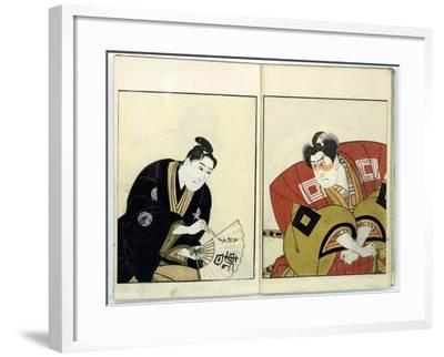 Portraits of Two Actors, 1803- Toyokuni-Framed Giclee Print