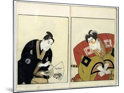 Portraits of Two Actors, 1803- Toyokuni-Mounted Giclee Print