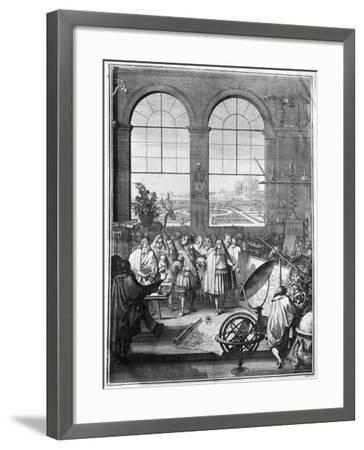 Louis XIV (1638-1715) and His Entourage Visiting the Garden of the King, after 1665-Jacques Sébastien Le Clerc-Framed Giclee Print