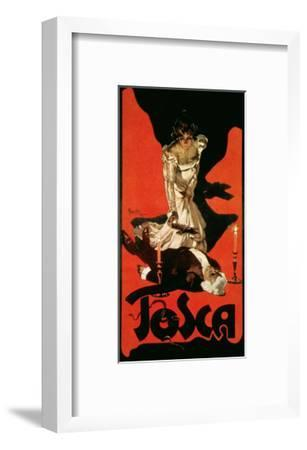 Poster Advertising a Performance of Tosca, 1899-Adolfo Hohenstein-Framed Giclee Print