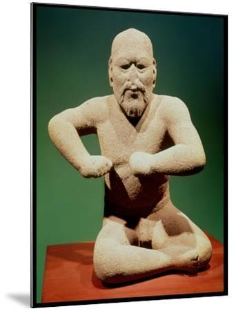 Figurine of a Wrestler--Mounted Giclee Print