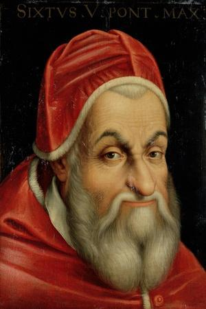 Pope Sixtus V (1520-90)--Stretched Canvas Print