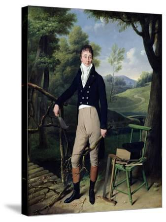 Portrait of a Man, Possibly Monsieur D'Aucourt De Saint-Just, circa 1800-Louis Leopold Boilly-Stretched Canvas Print
