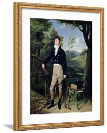 Portrait of a Man, Possibly Monsieur D'Aucourt De Saint-Just, circa 1800-Louis Leopold Boilly-Framed Giclee Print