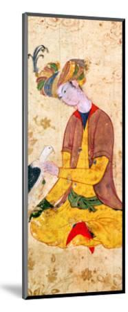 A Hunter Stroking His Falcon--Mounted Giclee Print