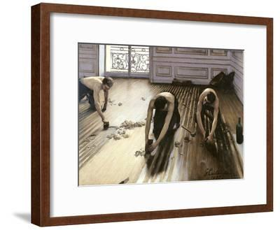 The Parquet Planers, 1875-Gustave Caillebotte-Framed Giclee Print