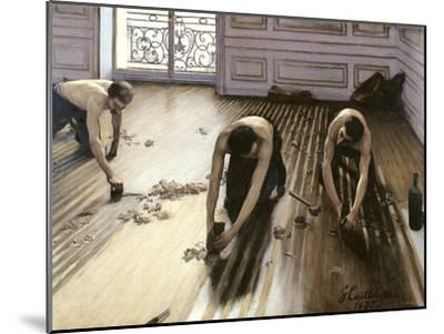 The Parquet Planers, 1875-Gustave Caillebotte-Mounted Giclee Print
