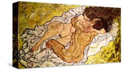 The Embrace, 1917-Egon Schiele-Stretched Canvas Print