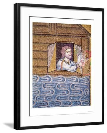 The Flood, from the Atrium, Detail of Noah Receiving the White Dove--Framed Giclee Print
