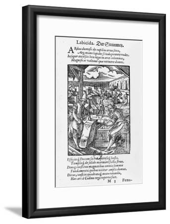 The Stone-Cutter-Jost Amman-Framed Giclee Print