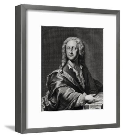 Portrait of Georg Philipp Telemann (1681-1757)-Georg Lichtensteger-Framed Giclee Print