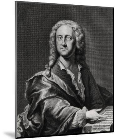 Portrait of Georg Philipp Telemann (1681-1757)-Georg Lichtensteger-Mounted Giclee Print