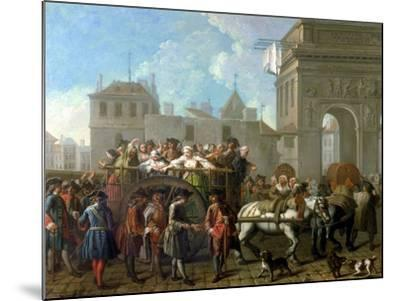 Transport of Prostitutes to the Salpetriere, circa 1760-1770-Etienne Jeaurat-Mounted Giclee Print