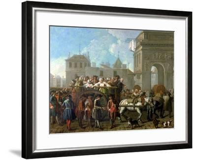 Transport of Prostitutes to the Salpetriere, circa 1760-1770-Etienne Jeaurat-Framed Giclee Print
