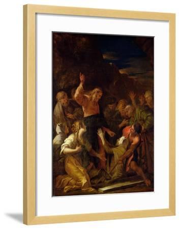 Jesus Healing the Leper, 1864-Jean-Marie Melchior Doze-Framed Giclee Print