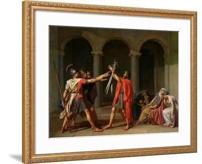 The Oath of Horatii, 1784-Jacques-Louis David-Framed Giclee Print