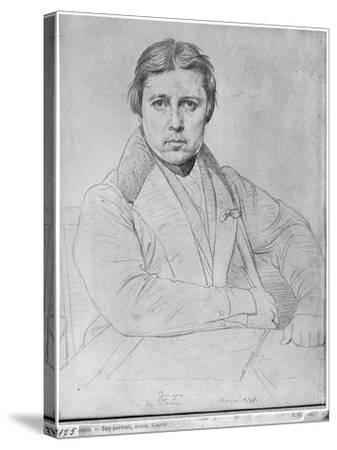 Self Portrait, 1835-Jean-Auguste-Dominique Ingres-Stretched Canvas Print