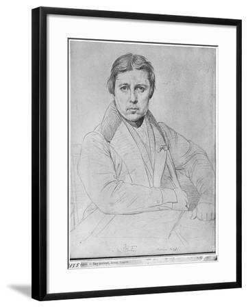 Self Portrait, 1835-Jean-Auguste-Dominique Ingres-Framed Giclee Print