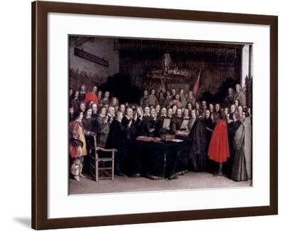 The Swearing of the Oath of Ratification of the Treaty of Munster, 1648-Gerard Terborch-Framed Giclee Print