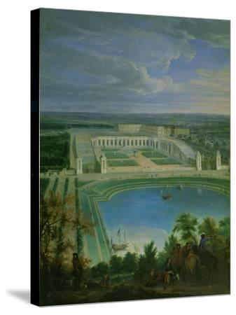 The Orangery and the Chateau at Versailles, 1696-Jean-Baptiste Martin-Stretched Canvas Print