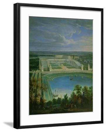 The Orangery and the Chateau at Versailles, 1696-Jean-Baptiste Martin-Framed Giclee Print