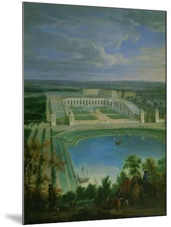 The Orangery and the Chateau at Versailles, 1696-Jean-Baptiste Martin-Mounted Giclee Print