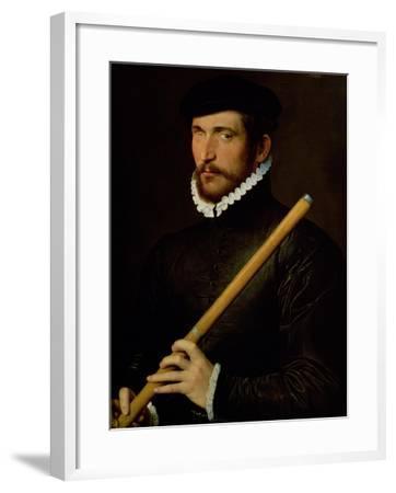 The One-Eyed Flautist, 1566--Framed Giclee Print