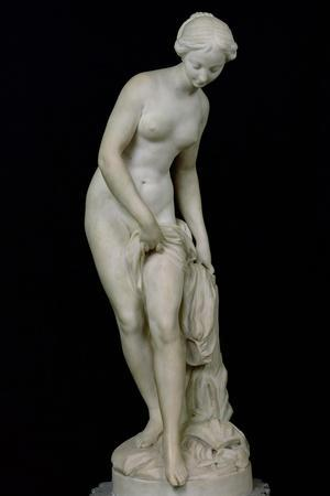 Bather Getting into a Bath, 1757-Etienne-Maurice Falconet-Stretched Canvas Print
