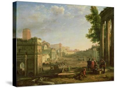 View of the Campo Vaccino, Rome-Claude Lorraine-Stretched Canvas Print