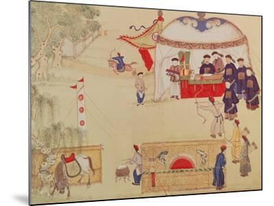 An Archery Contest, Late 18th Century, (Colour on Silk)--Mounted Giclee Print
