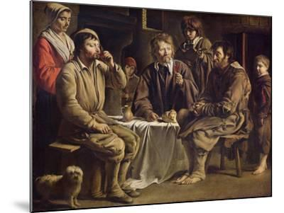 The Peasant's Meal, 1642-Louis Le Nain-Mounted Giclee Print