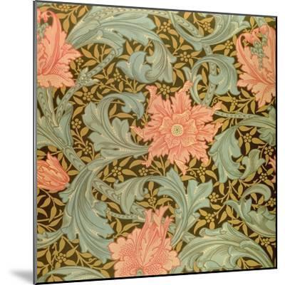 """Single Stem"" Wallpaper Design-William Morris-Mounted Giclee Print"