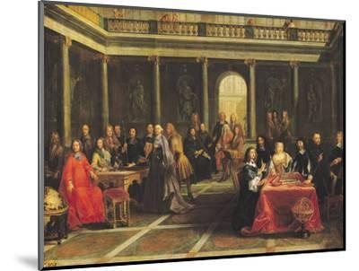 Queen Christina of Sweden (1626-89) and Her Court-Pierre-Louis the Younger Dumesnil-Mounted Premium Giclee Print