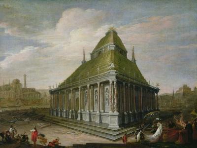 The Seven Wonders of the World: the Mausoleum at Halicarnassus-Wilhelm van Ehrenberg-Stretched Canvas Print