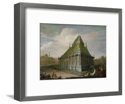The Seven Wonders of the World: the Mausoleum at Halicarnassus-Wilhelm van Ehrenberg-Framed Premium Giclee Print