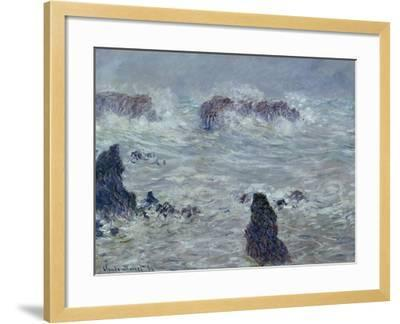 Storm, off the Coast of Belle-Ile, 1886-Claude Monet-Framed Giclee Print