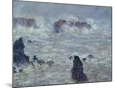 Storm, off the Coast of Belle-Ile, 1886-Claude Monet-Mounted Giclee Print