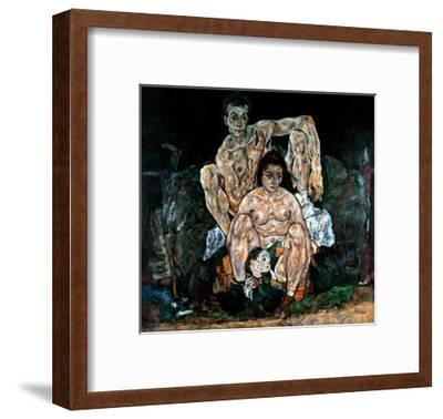 The Artist's Family-Egon Schiele-Framed Giclee Print