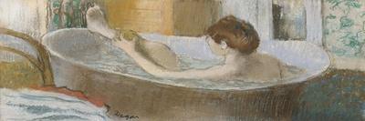 Woman in Her Bath, Sponging Her Leg, circa 1883-Edgar Degas-Stretched Canvas Print