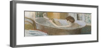 Woman in Her Bath, Sponging Her Leg, circa 1883-Edgar Degas-Framed Giclee Print