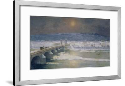 The Snow in the Auvergne, 1886-Albert-Charles Lebourg-Framed Giclee Print