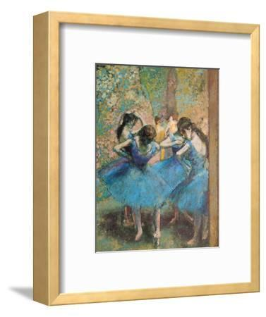 Dancers in Blue, c.1895-Edgar Degas-Framed Premium Giclee Print