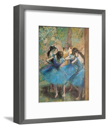 Dancers in Blue, c.1895-Edgar Degas-Framed Premium Giclee Print