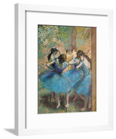 Dancers in Blue, c.1895-Edgar Degas-Framed Giclee Print