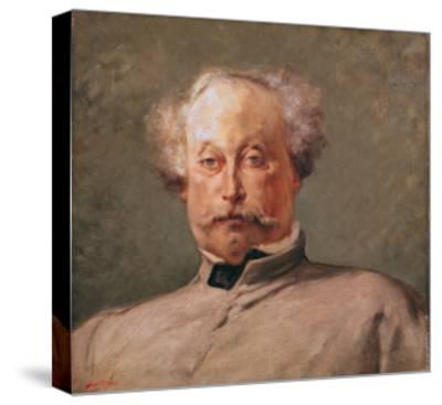 Portrait of Alexandre Dumas Fils (1824-95)-Georges Clairin-Stretched Canvas Print